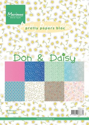 Pretty Papers bloc Don & Daisy PK9107