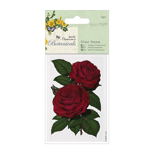 70 x 100mm Clear Stamps - Botanicals - Red Rose