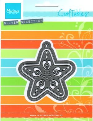 Craftables stencil filigree star CR1284