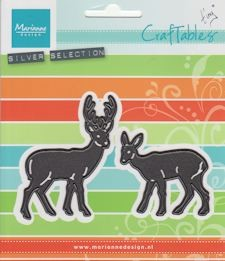 Craftables stencil Tiny`s deer CR1289 *