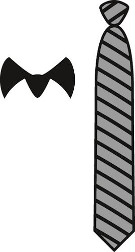 Craftables stencil gentleman`s tie CR1292