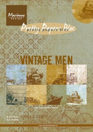 Pretty Papers bloc Vintage men  PK9116