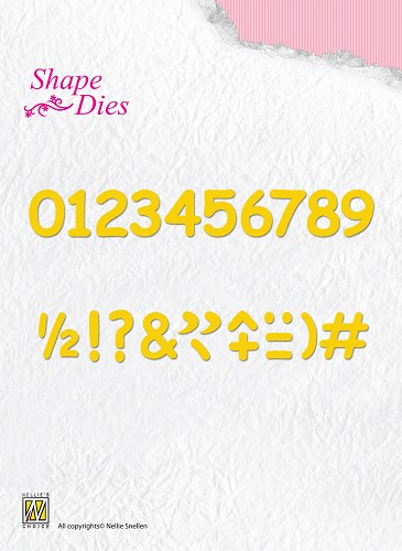 Shape Dies - Numbers & punctuation marks sd038