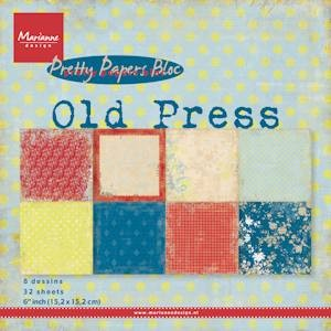 Pretty Papers bloc Old Press PK9120