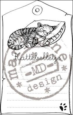 Clear stamp kattebelletje CS0915