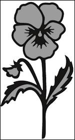 Craftables stencil Tiny`s pansy CR1305 *