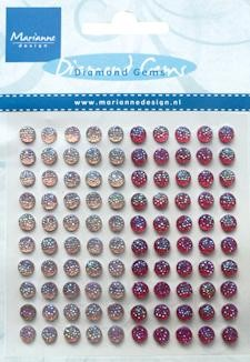 Adhesive gems light pink & pink JU 0937