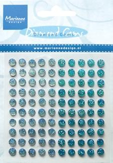 Adhesive gems light blue & blue JU 0938