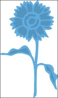 Creatables stencil Tiny`s sunflower LR0361*