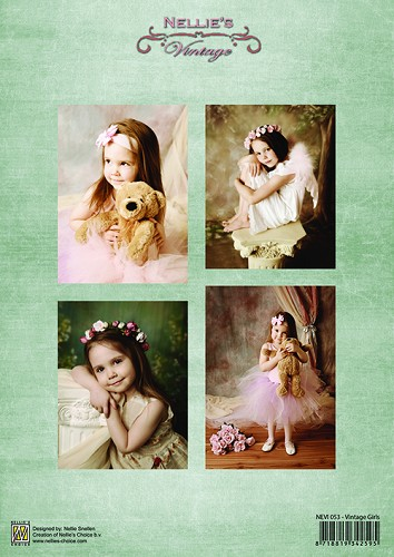 Decoupage sheets A4 - Vintage Girls NEVI053
