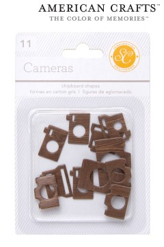 - Embellishments essentials chipboard shapes cameras (332093)