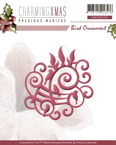 Die - Precious Marieke - Charming Xmas - Bird Ornament