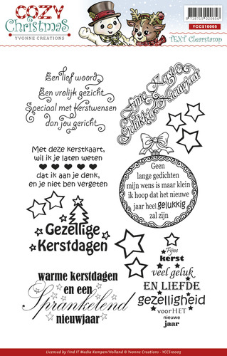 Clearstamp - Yvonne Creations - Cozy Christmas - Tekst