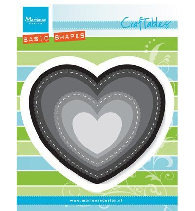 Craftables stencil heart (basic shape) CR1351 *