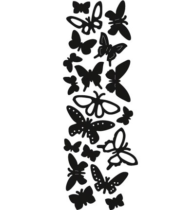 Craftables stencil punch die butterflies CR1354