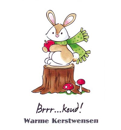 "Eline clearstamp ""warme kerstwensen""EC0150"