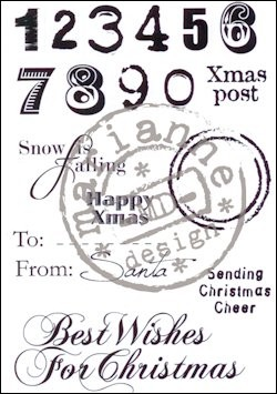 "Eline clearstamp ""xmas post""EC0149"