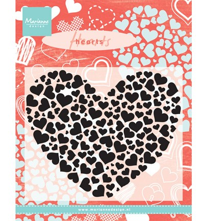 MD CLEAR STAMP HEARTXL CS0951
