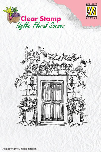 Clear Stamps - Door with flowerpots