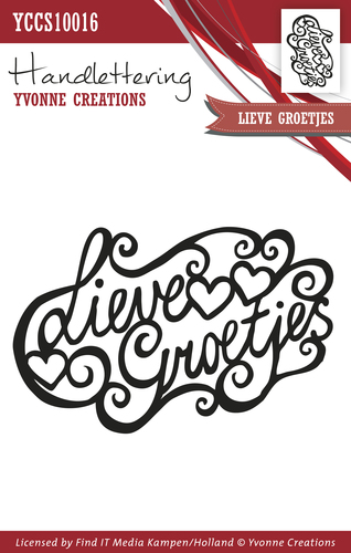 Clearstamp - Handlettering - Yvonne Creations - Lieve groetjes YCCS10016