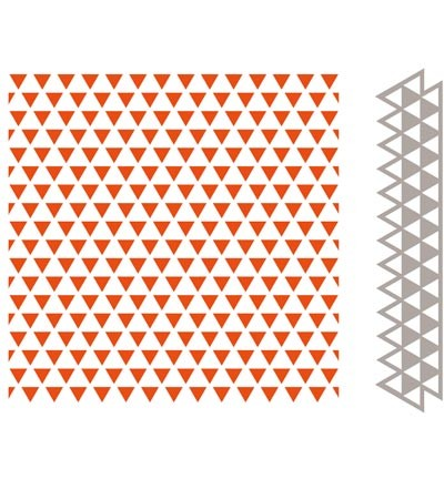 DF3428  -  - Design Folder + Die - Embossing folder Triangles