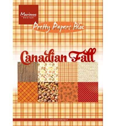 Marianne Design » Pretty Papers - A5 - Canadian Fall - PK9138