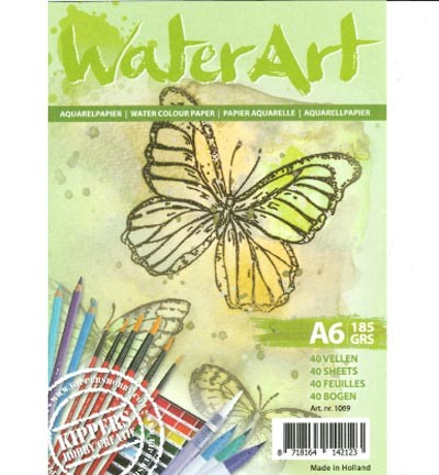 Aquarelblok » WaterArt A6/185grs   art.nr.1069
