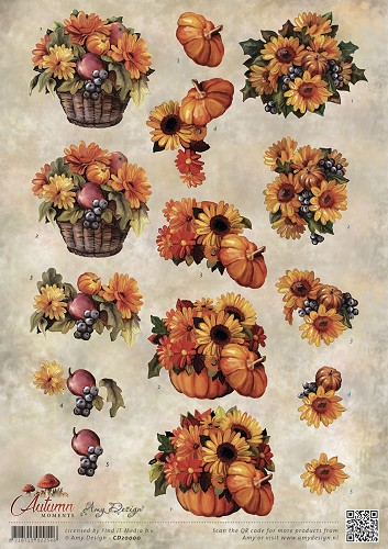 3D Knipvel - Amy Design - Autumn Moments - Herfstbloemen