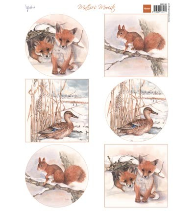 Knipvellen » Marianne Design »  Mattie`s winter animals - Foxes MB0162