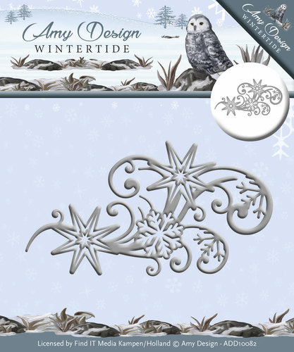 Die - Amy Design - Wintertide - Ice Crystal Swirl
