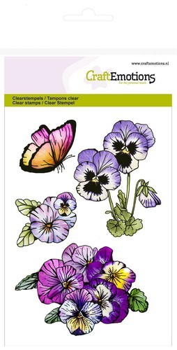 CraftEmotions clearstamps A6 - violen 1 Sweet Violets