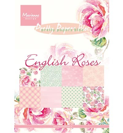Marianne Design » Pretty Papers - A5 - English Roses-PK9143