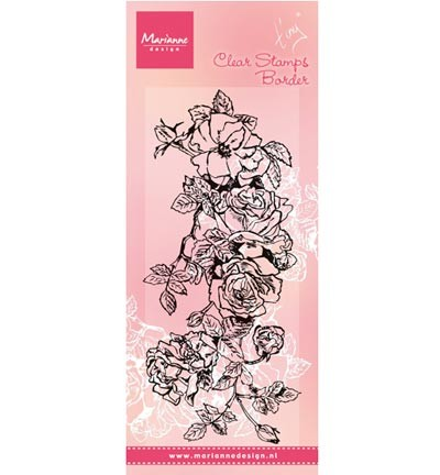 Clear stamp Tiny`s border: roses TC0847