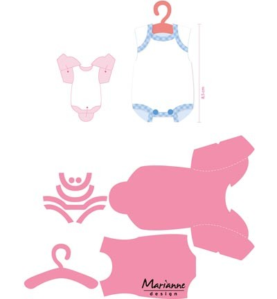 Cutting / embossing  Collectables Eline`s baby onesie  COL1419