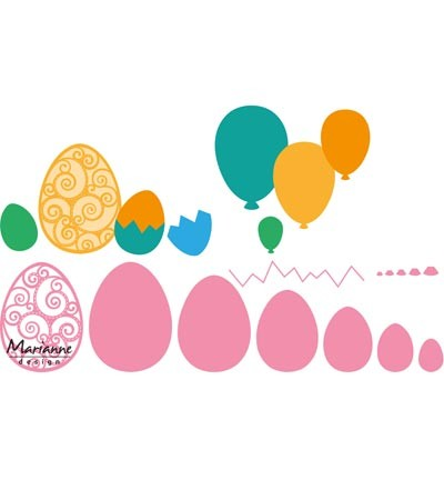 Cutting / embossing » Marianne Design » Collectables Easter eggs COL1425
