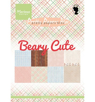 Marianne Design » Pretty Papers - A5 Beary cute PK9145