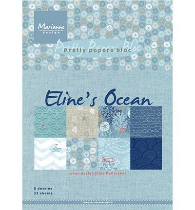 Marianne Design » Pretty Papers - A5 Eline`s Ocean PB7052