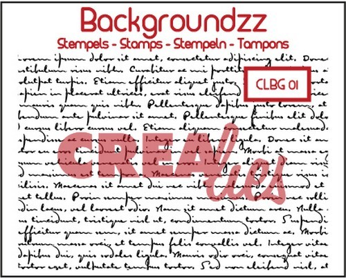 Crealies Clearstamp Backgroundzz 01 Old handwrinting 95x135mm / CLBG01
