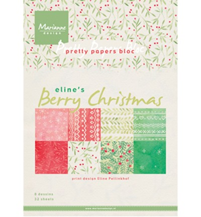 Marianne Design » Pretty Papers -PB7053 Berry Christmas