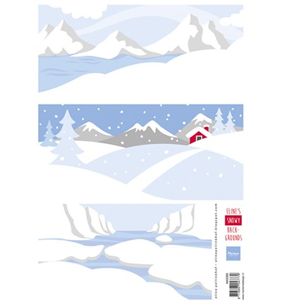 Marianne Design Eline`s Snowy backgrounds AK0069