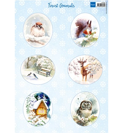 Knipvellen » Marianne Design Forest animals – squirrel VK9562