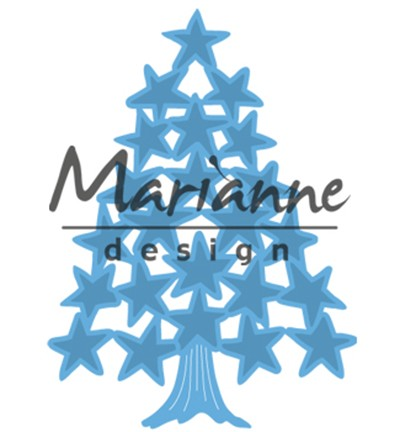 "Marianne Design » Creatables ""Tiny`s Christmas tree with stars"" LR0490"