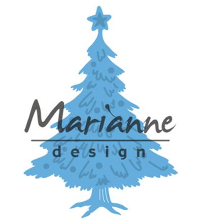 "Marianne Design » Creatables ""Tiny`s Christmas tree with decorated"" LR0491"