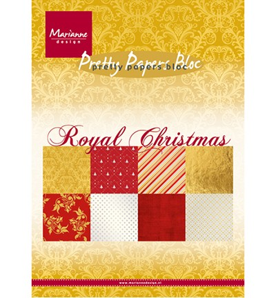 "Marianne Design » Pretty Papers - A5 ""Royal Christmas""  PK9151"