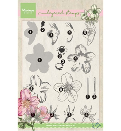 Marianne Design » Tiny`s helleborus (layering) Clearstamp TC0861