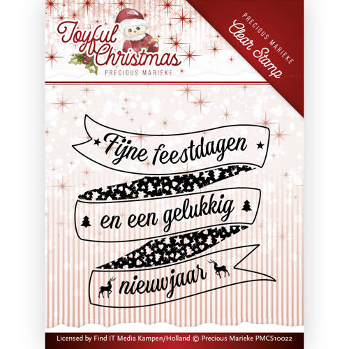 Clear Stamp TXT - Precious Marieke - Joyful Christmas