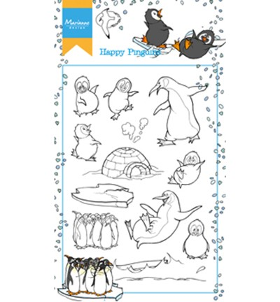 "Stempels Marianne Design ""Hetty`s Happy Pinguins"" HT1628"