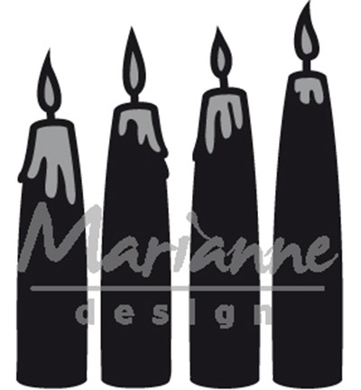 Marianne Design Craftables CR1425 - Advent candles *
