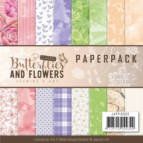 Paperpack - Jeanine`s Art Classic Butterflies and Flowers