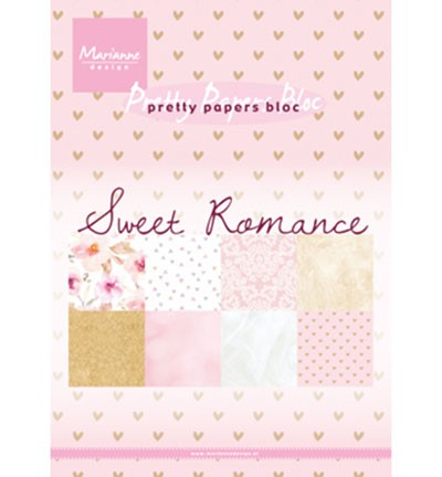 Marianne Design Pretty Papers - A5 Sweet Romance PK9153